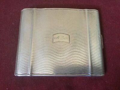 Art Deco German Silver Plated Stylish Kraft Alpacca Cigarette Case Circa 1930s