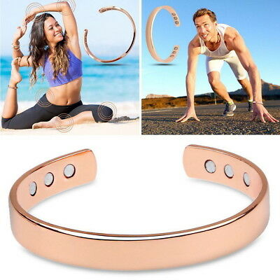 Rose Gold Healing Copper Bio Magnetic Therapy Bracelet Arthritis Pain Relief