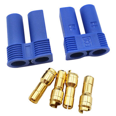 EC5 Banana Plug Male Bullet Connector For ESC RC LIPO Battery 2Pcs Quality Good