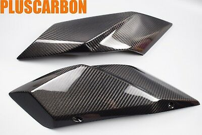 Kawasaki Ninja H2 2015-2017 Tail Side Covers Twill Carbon Fiber Glossy Finishing