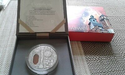 2013 niue mysteries of wawel 2 oz silver coin crystal a/gat insert