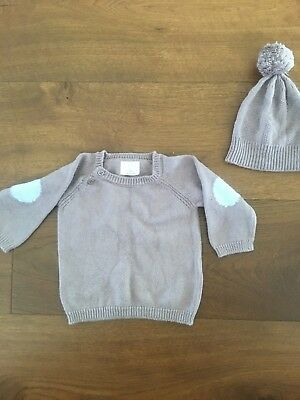 Wilson & Frenchie Jumper And Hat Beanie Size 6-12