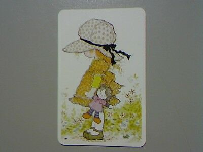 "1 Swap/Playing Card - ""Sarah Kay"" Cute Little Girl With Doll  (Blank Back)"