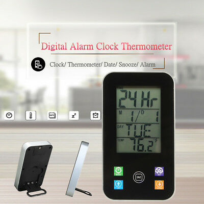 LCD Digital Wireless Thermometer Hygrometer Weather Station Alarm Clock Snooze