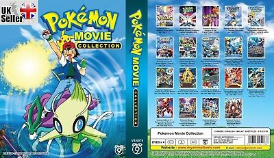 ANIME Pokemon Complete 19 Movies Collection DVD Box Set - FAST UK DISPATCH