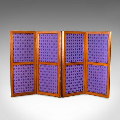 Antique Screen, English, Victorian, Room Divider, Photographer's Prop Circa 1860