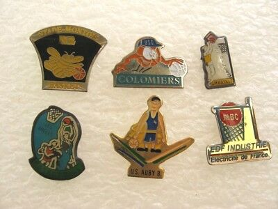 LOT 6 PIN'S BASKET / thème SPORT BASKETBALL CLUB PINS PIN P17