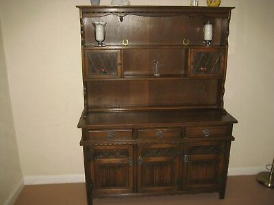 Old Charm Oak Welsh Dresser by Wood Bros  light Oak in excellent condition