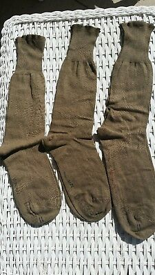 3 Pair Unused Vintage WW II US Army Officers Dress Socks size11