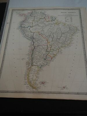 Antique Map of South America, Published 1840-1845