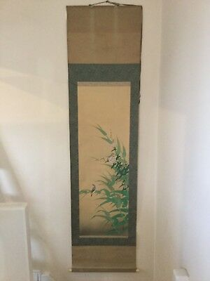 Vintage Chinese  painting of Flower and Bird on Silk paper