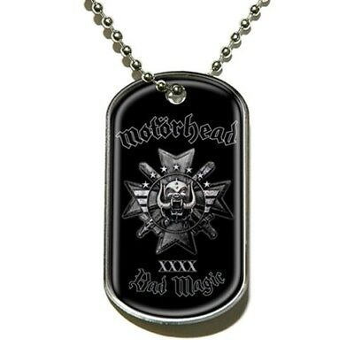 Official Merch Rock Metal DOG-TAG Necklace Pendant Chain MOTORHEAD Bad Magic