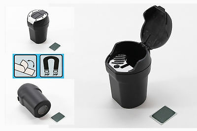 Magnetic Car Ashtray Bucket with Cover Stable Placement Cigarette Holder