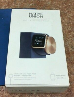 Apple Watch Charging Dock Limited Edition Midnight Blue Gold