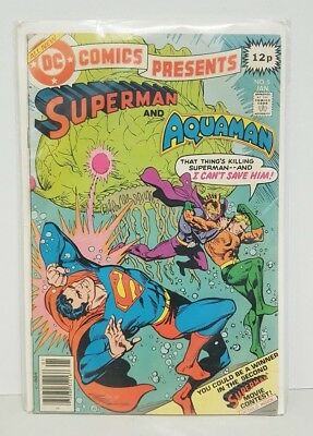 DC Comics Presents Superman And Aquaman January 1979 FREEPOST Bronze Age