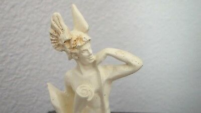 FAXUS Male Winged Messenger Figurine c.1884 signed BRIGGS