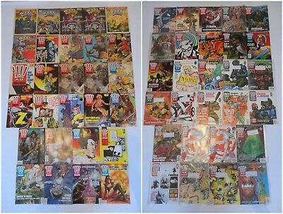 2000AD Prog Comic Magazine Job Lot Bundle - Judge Dredd Vintage 80s RARE Issues