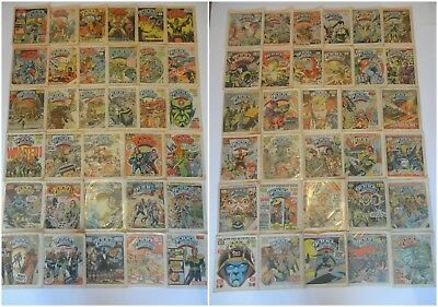 2000AD Prog Comic Magazine Job Lot Bundle - Judge Dredd Vintage 1980 RARE Issues
