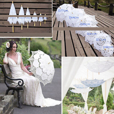 Lace Parasol Umbrella Beautiful Vintage Handmade For Bridal Wedding Photo Album