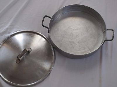 HUGE West Bend Sheet Aluminum Chef Ware Restaurant Skillet & Lid Camping 16""