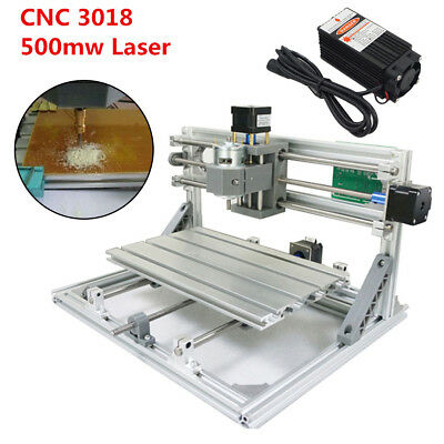 3 Axis CNC 3018 GRBL Control + 500mw Laser DIY Router Milling Engraving Machine