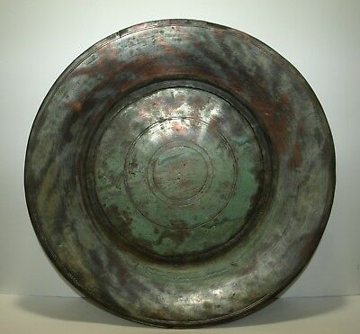 OTTOMAN TURKISH Antique middle eastern Tinned Copper tray 1793