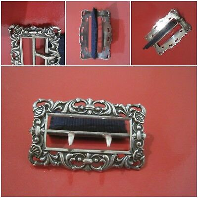 Antique Victorian  SILVER NURSES BELT BUCKLE - BIRMINGHAM 1857 31.00gm