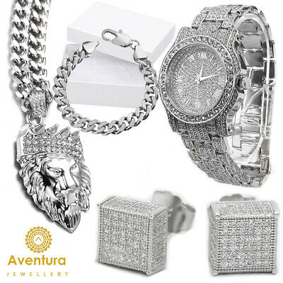 Techno Pave Totally Iced Out Pave Unisex Watch Made With Swarovski