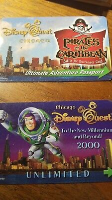 DISNEY QUEST CHICAGO  Admission Passes used no longer here