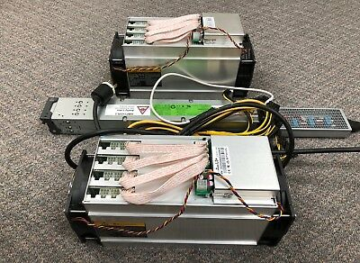Two Bitmain Antminers L3+ Litecoin Scrypt Miner Set - 504 MH -  Ready to Ship*