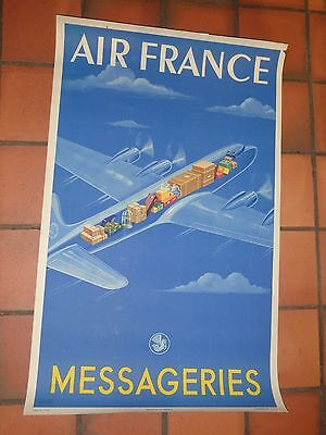 très rare affiche originale AIR FRANCE 1949
