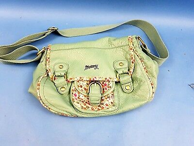 7c80d9ed0cc1 Mantaray Light Green Washed Buckle Detail Cross Body Hand Bag Floral Trim