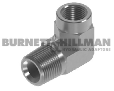 Burnett & Hillman NPTF Male x NPTF Fixed Female 90° Forged Elbow Adaptor