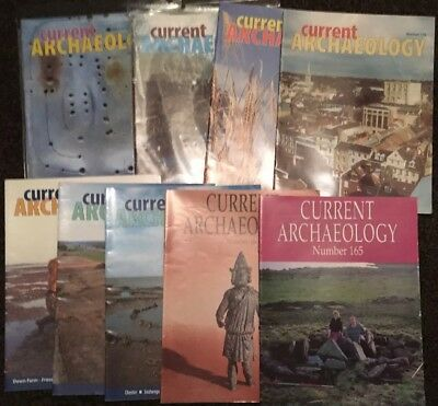 Job Lot 9 x Current Archaeology Magazines issue no. 165-172, 174 1999 to 2001
