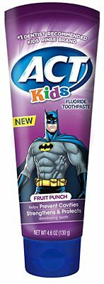 ACT Kids Fruit Punch Toothpaste 4.6 oz (8 Pack)