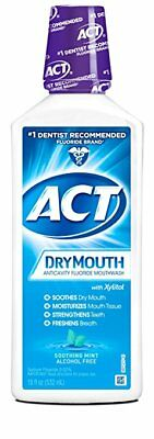 ACT DryMouth Anticavity Rinse, Soothing Mint, 18 oz (4 Pack)