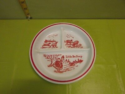 Vintage Glass  Child Plate Of Little Bo Peep