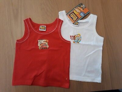 2 x Boys Bob the Builder Vest 18-24Months