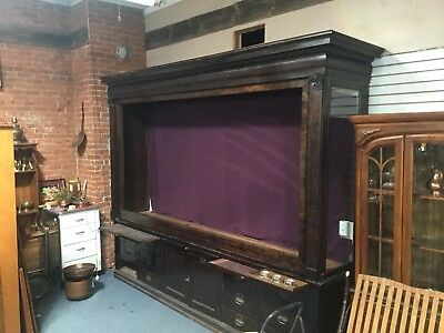 Walnut 2 Piece Lighted Back Bar w/ Drawers And Glass Shelves LaCrosse WI