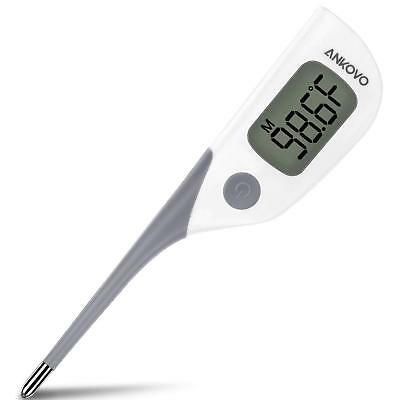 ANKOVO Waterproof Fast 8 Seconds Reading Digital Basal Rectal Baby Thermometer..