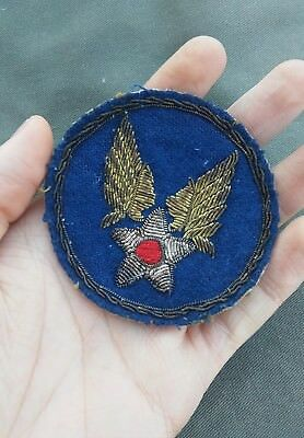 BEAUTIFUL WWII US Army Air Corps Air Force bullion theater made patch