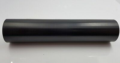 "7.5""  C Cell Sized Anodized Aluminum Maglite Body Tube GLOSSY SLEEK BLACK"
