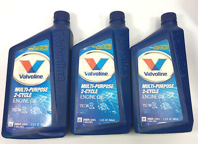 3 Qt VALVOLINE OIL COMPANY VV461  Qt Mp 2 Cyc Oil