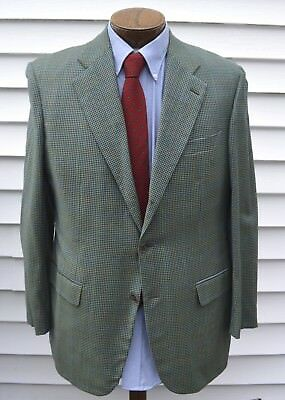 Isaia Houndstooth Check Sport Jacket EU 50 40R Italy Side Vents Clean