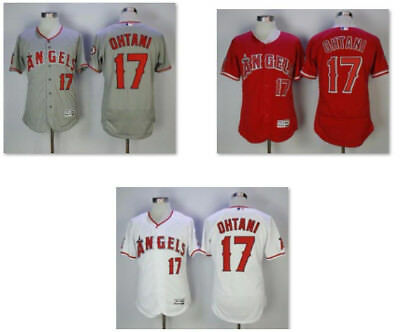 New Shohei Ohtani #17 Los Angeles Angels Flex Base Mens Jersey Home/Road M - 3XL