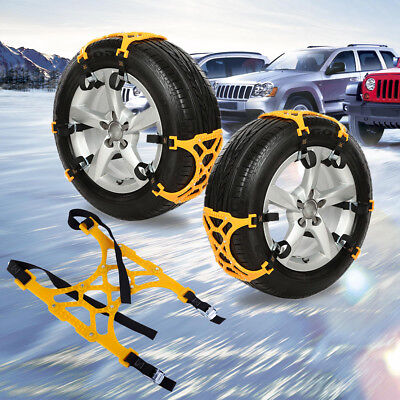 Double Buckles Car Snow Mud Tire Anti-skid Chains TPR Wheel Tyre Thicken Chains