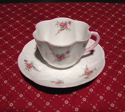 Shelley Dainty Bridal Rose Tcup and Saucer  LOWEST PRICE EVER