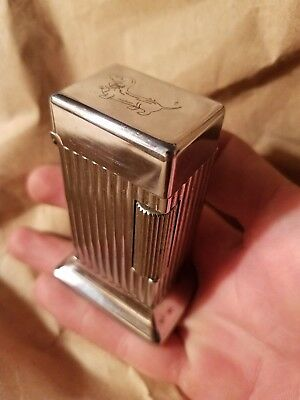 Antique 1940's Parker By Dunhill 125 Table Cigarette Lighter Rollalite Zippo