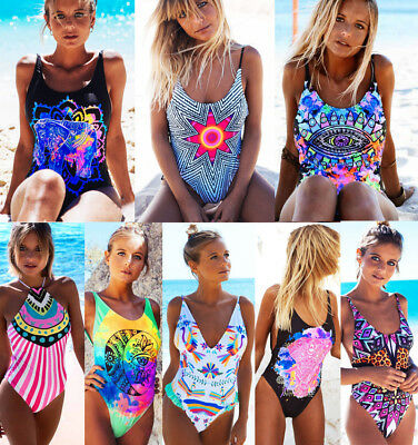 New Women One-Piece Swimsuit Beachwear Swimwear Push-up Monokini Bikini Bathing