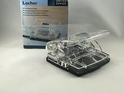 UniteOffice Two Holes Puncher SmartTouch Low Force Clear 8 Sheets PunchCapacity